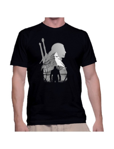 T Shirt The White Wolf - The Witcher