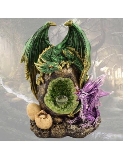 Couple de Dragons Vert et Violet
