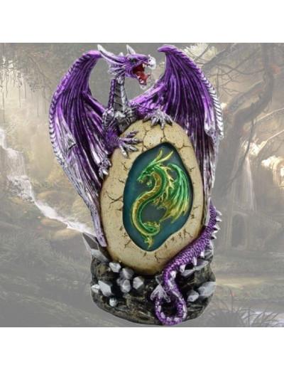 Dragon Violet avec Œuf Vert