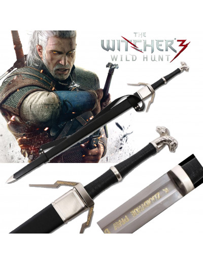 Épée Geralt de Riv Gravée The  Witcher 3