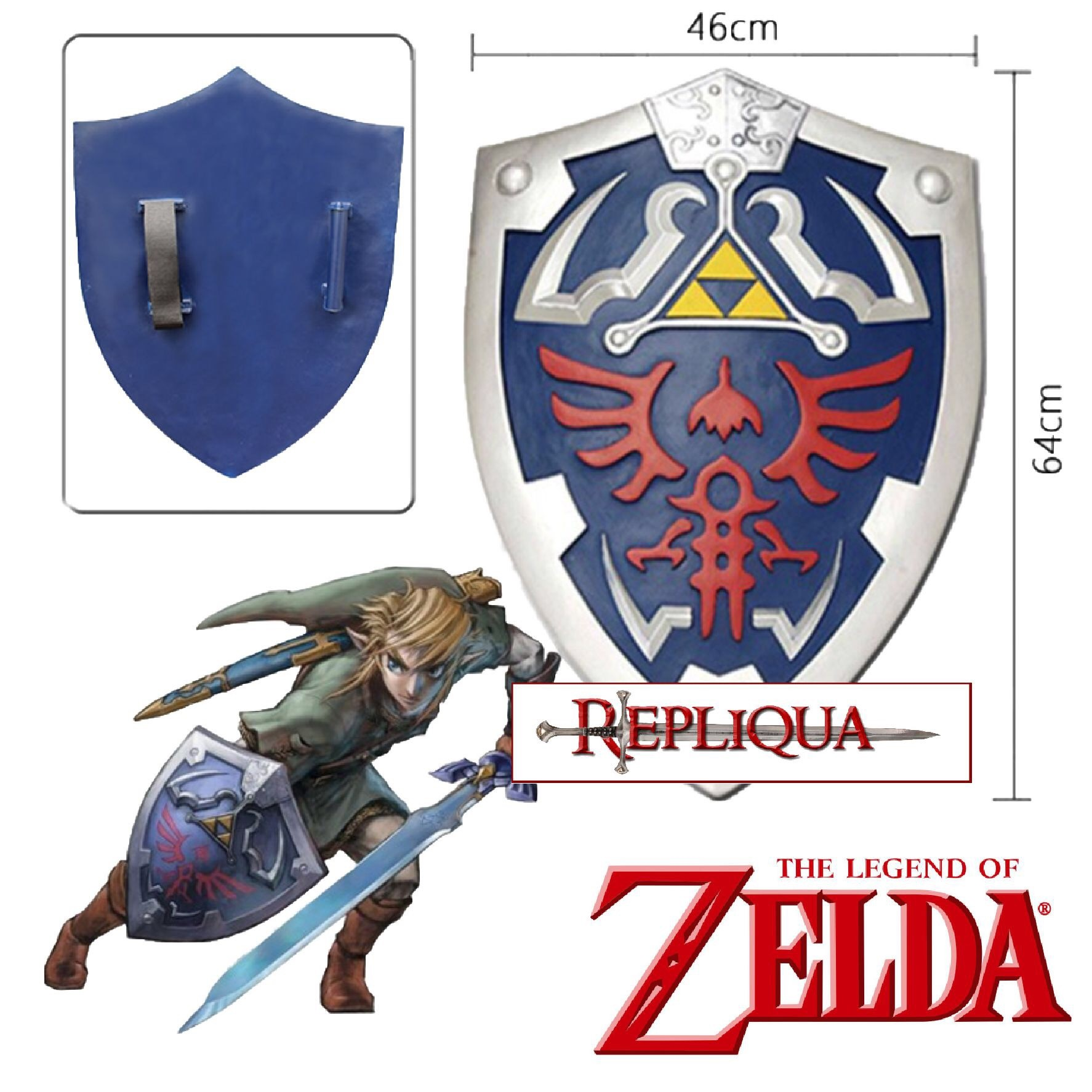 Bouclier Link Bleu - Zelda